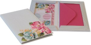 Kit Correspondência Floral rosa e azul