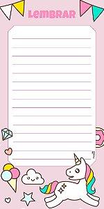 Lista de Compras Unicórnio Rosa