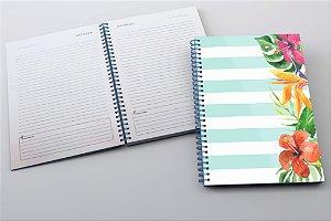 Caderno Floral Azul