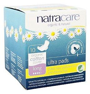 Absorvente Natracare Ultra Pads Long com abas 10 unidades