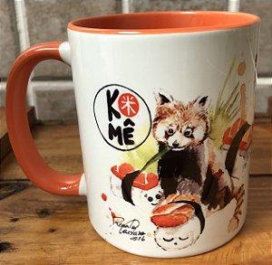 Caneca Niguiri Salmão Panda Vermelho