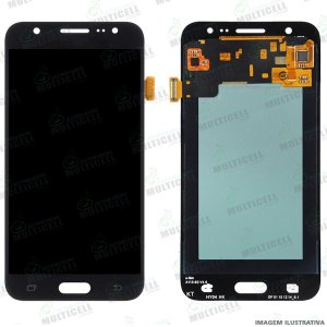 GABINETE FRONTAL DISPLAY LCD MODULO COMPLETO SAMSUNG J500 GALAXY J5 PRETO ORIGINAL (QUALIDADE CHINA OLED )