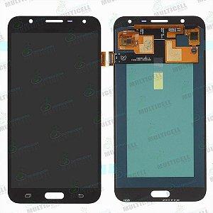 GABINETE FRONTAL DISPLAY LCD MODULO COMPLETO SAMSUNG J700 GALAXY J7 PRETO CINZA (ORIGINAL IMPORTADO OLED)
