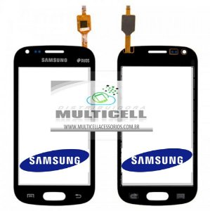 TELA TOUCH SCREEN SAMSUNG S7562 GALAXY S DUOS PRETO ORIGINAL (GH96-06101A)