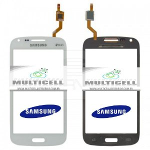 TELA TOUCH SCREEN SAMSUNG I8260/I8262 GALAXY S3 DUOS BRANCO ORIGINAL (GH59-12974A)