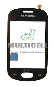 TOUCH SCREEN SAMSUNG S5283 TRIOS PRETO ORIGINAL (GH59-13597A)