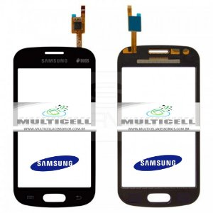 TELA TOUCH SCREEN SAMSUNG S7390/S7392 GALAXY TREND LITE  PRETO ORIGINAL (GH96-06644B)