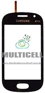 TELA TOUCH SCREEN SAMSUNG S6812 GALAXY FAME AZUL ORIGINAL (GH59-13293B)