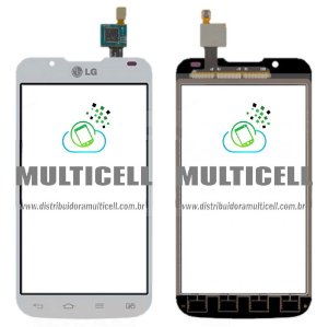 TELA TOUCH SCREEN LG P715 P716 OPTIMUS L7 II BRANCO 1ªLINHA