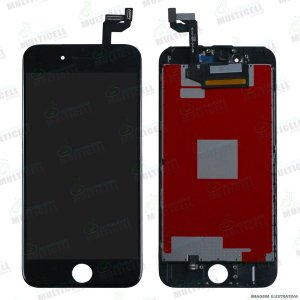 GABINETE FRONTAL DISPLAY LCD MODULO COMPLETO APPLE A1688 IPHONE 6S PRETO 1ªLINHA QUALIDADE AAA