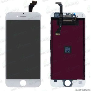 GABINETE FRONTAL DISPLAY LCD MODULO COMPLETO APPLE A1549 IPHONE 6 / IPHONE 6G BRANCO 1ªLINHA QUALIDADE AAA