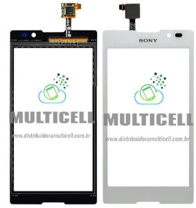 TELA TOUCH SCREEN SONY C2304 C2305 S39H XPERIA C BRANCO 1ªLINHA AAA GOLD