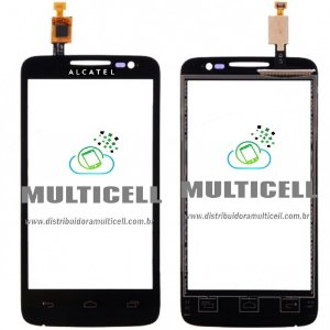 TELA TOUCH SCREEN ALCATEL OT5020 ONE TOUCH MPOP PRETO ORIGINAL