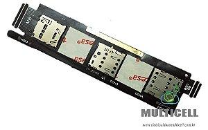 FLEX CONECTOR CHIP SIM CARD ASUS A601 ZENFONE 6 1ªLINHA AAA QUALIDADE GOLD