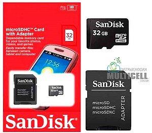 CARTÃO DE MEMORIA SANDISK 32GB
