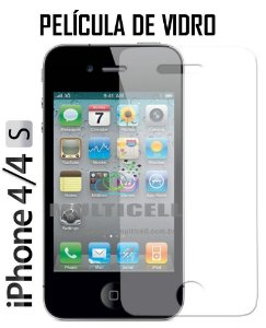 PELICULA DE VIDRO APPLE IPHONE 4 4S 2,5mm