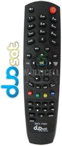 CONTROLE DUOSAT ONE NANO/PRODIGY/TRAY HD/TREND HD RECEPTOR DIGITAL SKY-7491 1ª LINHA