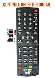 CONTROLE BEDIN SAT BHD10 /BHD10S RECEPTOR DIGITAL SKY-7002 1ª LINHA
