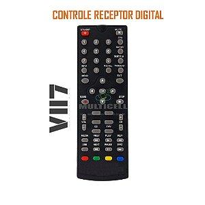 CONTROLE RECEPTOR DIGITAL VII7 TECNOLOGY DVT-B003 SKY-7018 1ª LINHA