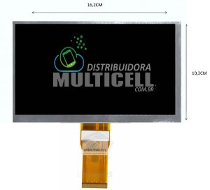 DISPLAY LCD TABLET 7' 50 VIAS DL (FPC070-50-01) 16,2cm x 10,3cm ORIGINAL