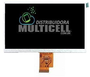 DISPLAY LCD 7 POLEGADAS 40 VIAS NAVICITY N1715 (F11303A) AOC 7Y2241 E OUTROS COMPATIVEIS