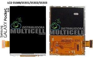 DISPLAY LCD SAMSUNG S5300 S5301 S5302 S5303 GALAXY POCKET 1ªLINHA