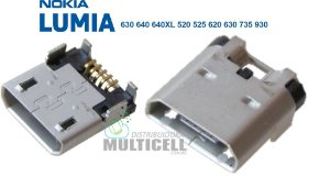 CONECTOR USB DOCK DE CARGA LUMIA 520 525 620 630 640 640XL 730 735 930 ORIGINAL