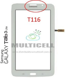TELA TOUCH SCREEN SAMSUNG T116 TAB 3 LITE 3G 7