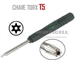 CHAVE MINI TORX T5 PRETA