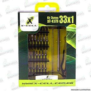 KIT JOGO DE CHAVE XC-K32B 33X1 X-CELL