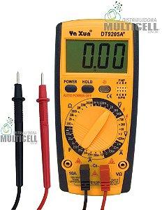 MULTÍMETRO DIGITAL YAXUN  YX-9205A DT9205A+ 32 ESCALAS + BATERIA 9V PROFISSIONAL