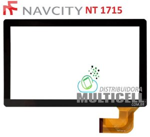 TELA TOUCH SCREEN NAVCITY NT 1710 NT 1711 NT 1712 FLEX CURVO PRETO ORIGINAL