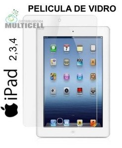 PELICULA DE VIDRO APPLE IPAD 2 , 3 , 4  3,0mm