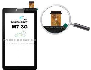 TELA TOUCH SCREEN MULTILASER M7 3G NB 162 NB162 PRETO ORIGINAL