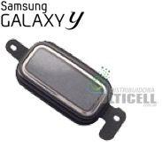 TECLA BOTAO HOME SAMSUNG S6102 GALAXY Y CINZA ORIGINAL