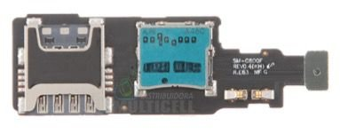 FLEX LEITOR MATRIZ SLOT CONECTOR DE CHIP SIM CARD SAMSUNG G800 G800F GALAXY S5 MINI ORIGINAL