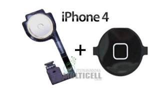 FLEX BOTAO HOME APPLE IPHONE 4 PRETO ORIGINAL