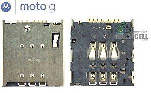 LEITOR MATRIZ SLOT CONECTOR DE CHIP SIM CARD MOTOROLA  XT1030 XT1032 XT1033 XT1040 MOTO G ORIGINAL