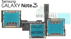 FLEX LEITOR MATRIZ SLOT CONECTOR DE CHIP SIM CARD SAMSUNG N900 N9000 N9003 N9005 N9009 GALAXY NOTE 3 ORIGINAL