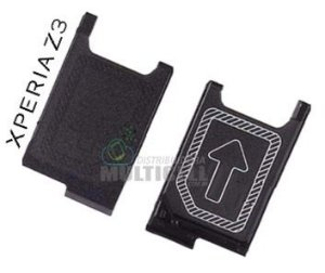 BANDEJA GAVETA CHIP SIM CARD SONY D6603 D6633 D6643 D6653 XPERIA Z3 ORIGINAL