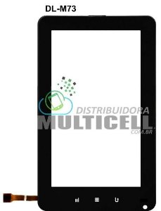 TOUCH SCREEN DL TG-M73 TG M73 3G MOBLI PLUS 7'' PRETO ORIGINAL