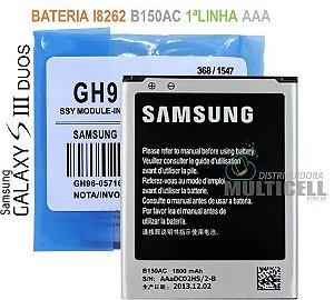 BATERIA SAMSUNG I8260 I8262 GALAXY S3 DUOS 1ªLINHA AAA