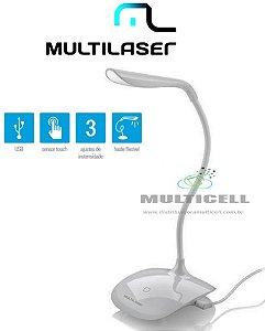 LUMINÁRIA DE LED USB BRANCA COM SENSOR DE TOUCH MULTILASER AC274