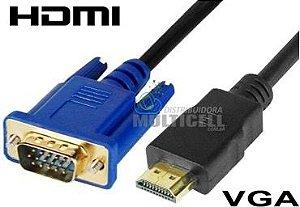 CABO VGA PARA HDMI PRETO 1,8m LINK SKY