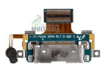 FLEX DOCK CONECTOR DE CARGA USB E MICROFONE SAMSUNG P6200 P6201 GALAXY TAB PLUS ORIGINAL
