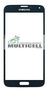 VIDRO FRONTAL SAMSUNG G900/I9600 GALAXY S5 AZUL ORIGINAL