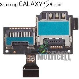 FLEX CONECTOR SLOT DE CHIP MATRIZ SIM CARD SAMSUNG I9190 i9192 GALAXY S4 MINI ORIGINAL