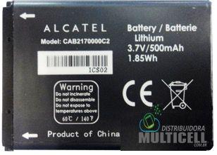 BATERIA ALCATEL CAB2170003C1 500mAh 3.7v OT-208P OT-660 ORIGINAL