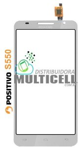 TELA TOUCH SCREEN POSITIVO YPY S550 S 550 BRANCO ORIGINAL