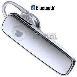 FONE DE OUVIDO BLUETOOTH UNIVERSAL MODELO IPHONE 4 4S 5 5C 5S 6 6S M165 IOS BRANCO 1ªLINHA